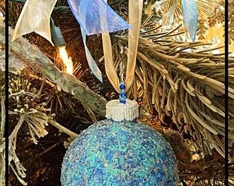 Glass Christmas Balls, Beach Christmas Ornaments, Coastal Christmas Ornaments, Beach Decor Coastal Decor Beach, Hand Painted Christmas Bulbs