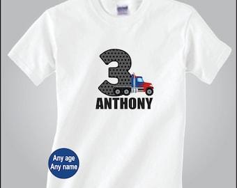 Personalized Semi Truck Birthday Shirt Truck Birthday Shirt