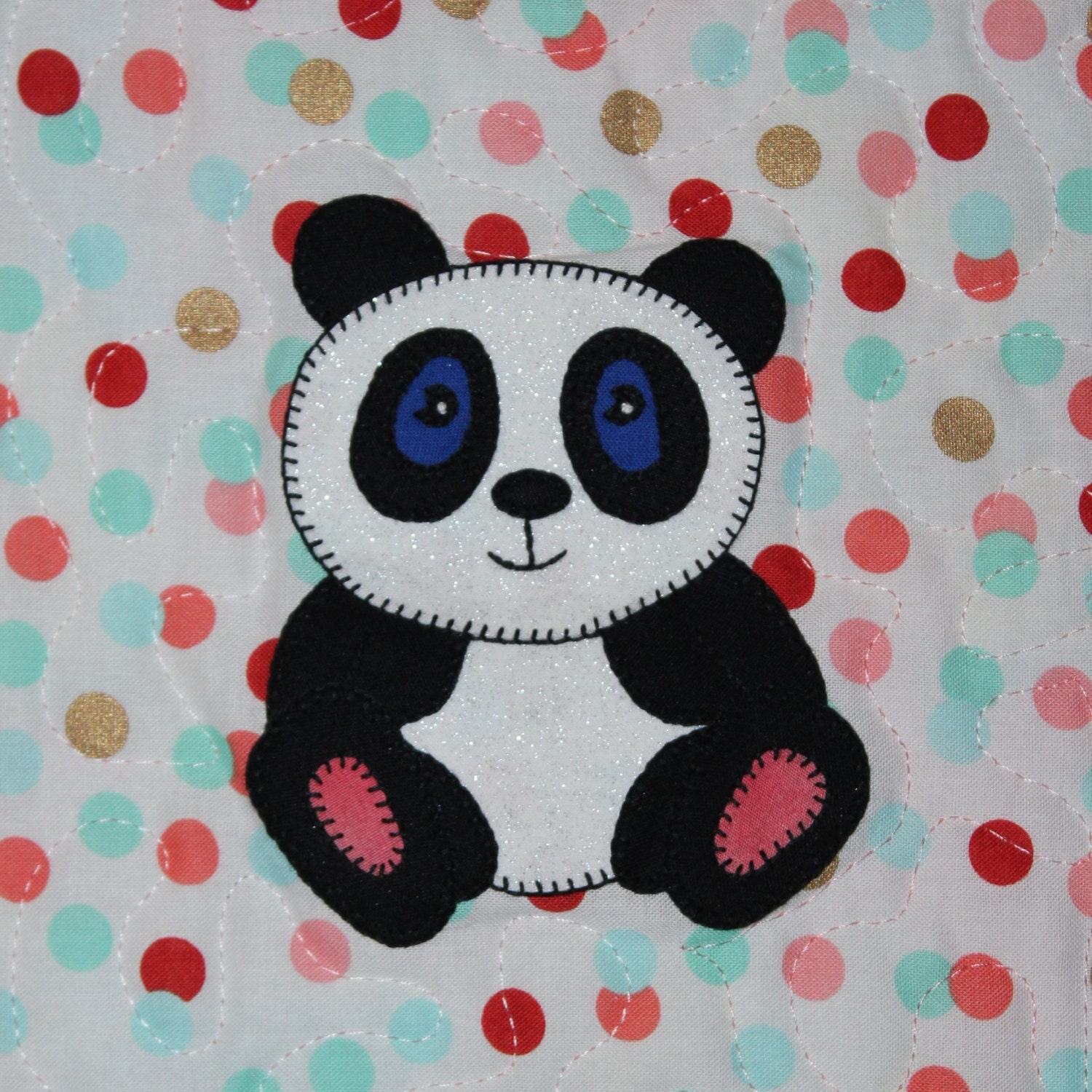 Panda Pdf Applique Quilt Pattern Whimsical Giant Panda