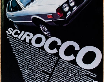 VW Scirocco Ad from 1975 (AD161)