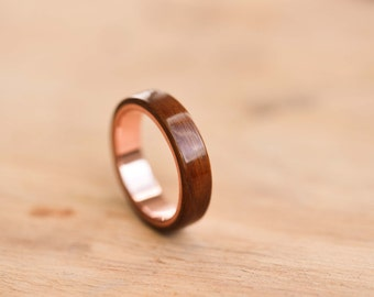 Santos Rosewood & Copper Bentwood Ring
