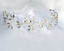 bridal headband, crystal headpiece, crystal tiara, wedding hair accessories, crystal crown, bridal tiara, bridal hair jewelry, bridal halo