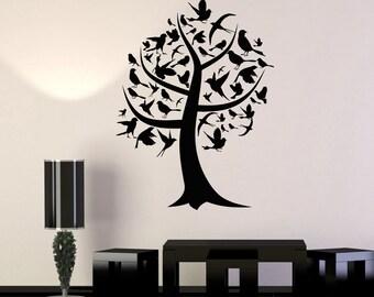 Wall Art Mural Tree Branch Nature Birds Guaranteed Quality Decor 2392di