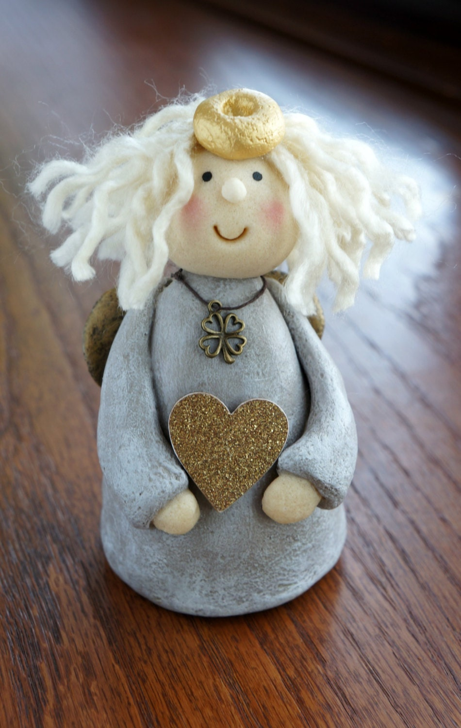 Angel Figurine Angel Doll Guardian Angel Salt By Martagdesigns