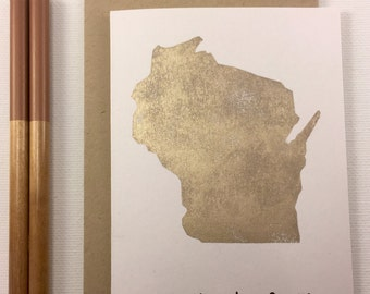 Wisconsin - State Love Stationery - Four Bar Cards - Thank You, Hello From, With Love