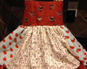 Thanksgiving Day Dress 6-12 months, 12-18 months, 18-24 months. 2T, 3T, 4T, 5, 6