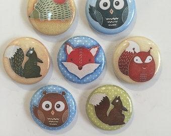 Woodland Animal Magnets - set of 7