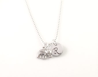 Elephant charm Necklace, best friend necklace, good luck necklace, small 3D elephant charm, gift for her, mother gift, daughter