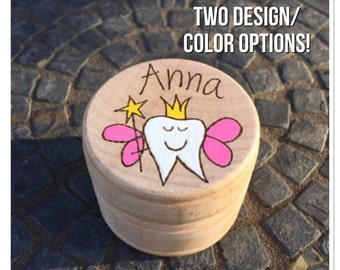 Tooth fairy box, tooth box, woodburning box,personalized wooden box, custom keepsake box, tooth fairy jar, loose tooth box