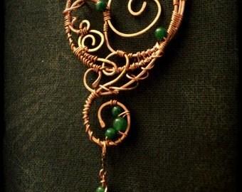 Fantasy copper wire pendant