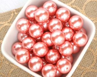Chunky Pearls - Bulk Pearls - 20mm Pearls - Bubblegum Bead - Coral Pearls - Bulk Bead - Wholesale 20mm Bead - Gumball Gum Ball Bead - Pearls