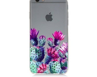 iPhone 7 Clear Case - Cactus - Protective TPU cover for iPhone 7 - 7 plus - iPhone 6s -  6s plus - Samsung Galaxy s5 s6 s7 Note 7