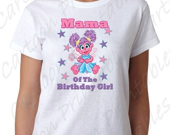 Abby Cadabby Mama of the Birthday Girl IMAGE use as Printable Clip art Iron on transfer Sesame Street Shirt T-shirt DOWNLOAD DIY