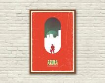 AKIRA / Anime Movie Poster / Cyberpunk / Neotokyo / Ghibli / Vintage Movie Poster / Alternative Art / Tokyo / Japan