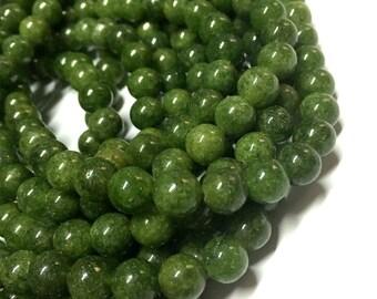 8mm Lemon Jade Gemstone Beads - 14.5 inch Full strand - Round Gemstone Beads