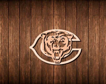 Chicago Bears Wall Art chicago bears art   etsy