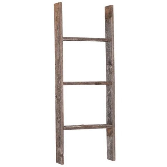 barnwood rustic 3 ft decorative ladder by barnwoodusahomedecor. Black Bedroom Furniture Sets. Home Design Ideas