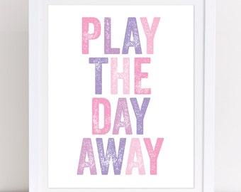 Playroom Sign, Playroom Rules, Classroom Wall Art, Printable Wall Art, Nursery Printable, Girls Nursery Decor, Pink and Purple Wall Art