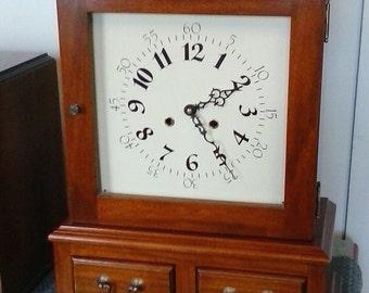 Shelf Clock with Drawers