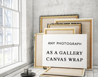 Gallery Wrap Canvas Print - Your Choice Any Photograph in Shop - Ready to Hang Wall Decor, Fine Art Travel Photography, Great Gift Idea