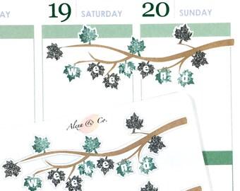 Weekend Banner - Leaves Patterns #341