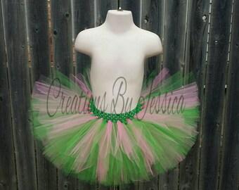 Green And Pink Tutu.. Full Green And Pink Tutu.. Pink And Green Birthday Tutu.. Newborn Green And Pink Tutu. St Patrick's Day Tutu..