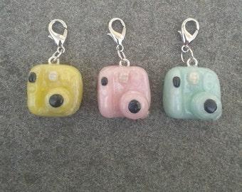 Polymer Clay Polariod Camera Charm