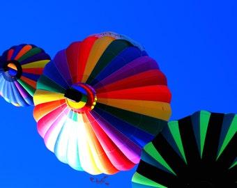 Hot Air Balloon, landscape photography, summer