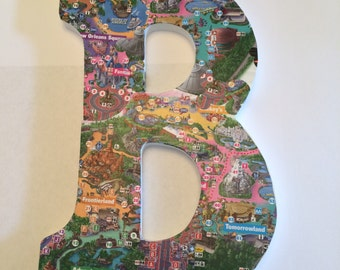 Disney Park Map Letter of Your Choice