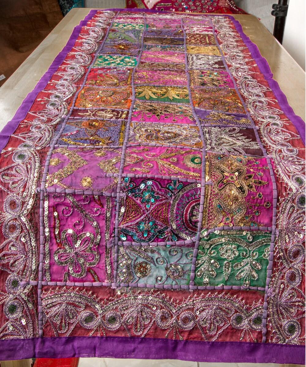 Purple Table Runner Table Decor Table Decoration Boho Home