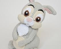 Crochet PATTERN - Easter Thumper rabbit from Bambi Disney Movie by Krawka