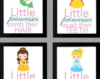 Little Princesses Bathroom Signs 8.5x11