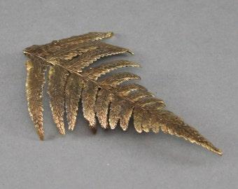 Golden Fern Brooch,   Golden Fern Pin