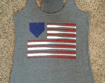 Baseball Flag Soft Tank
