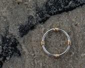 Lifesaver Ring Band- Silv...