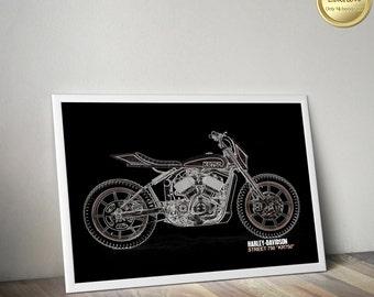 Harley Davidson Wall Decor harley davidson poster harley iron 883 print a3 poster