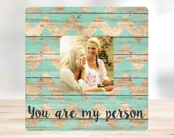 Grey's Anatomy You Are My Person Best Friend Gift Picture Frame Personalized Picture Frame