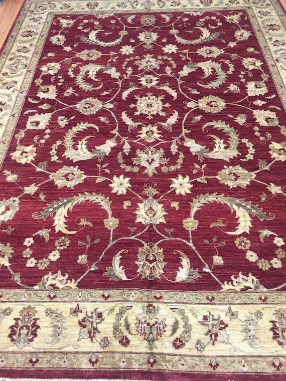 "8'10"" x 11'10"" Pakistani Peshawar Oriental Rug - Hand Made - Vegetable Dye - 100% Wool"