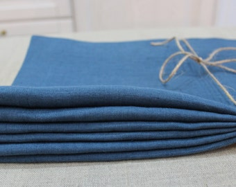 Linen napkins, Linen napkin set of 6, Natural linen napkins, Washed natural linen napkins
