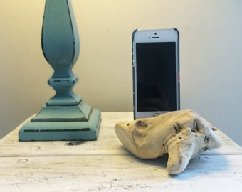 Driftwood iPhone Dock, iPhone docking station, iPhone charging station, iPhone charger, wooden iPhone dock - M2