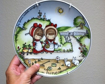 Vintage Joan Walsh Anglund Collector Plate - June (1966)