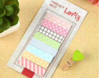 Lovely Masking Sticky Notes / Cute Kawaii Sticky Notes / Post-It Notes / Stationary / Stationery / School Supplies / Masking-It Ver.2