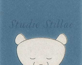 Cute POLAR BEAR print, sweet polar bear poster. Instant download!