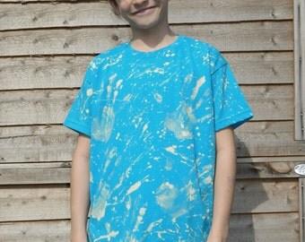 KIDS Tie dye t shirt Retro summer t shirt dip dye festival hippy tie dye t shirt Vintage children tie dye t shirt handmade kids t shirt top