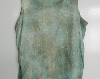 Tie Dye acid wash vest top sleeveless T shirt hipster festival grunge Retro punk 80s 90s indie dip dye indie skate rave tank top