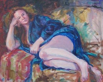 Figure Painting, Female Figure, Reclining Figure