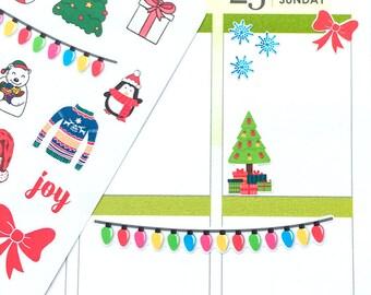 Christmas Stickers, Planner Stickers, Winter Stickers, Decorative Stickers, Cute Scrapbook Stickers, Happy Planner, Erin Condren Stickers
