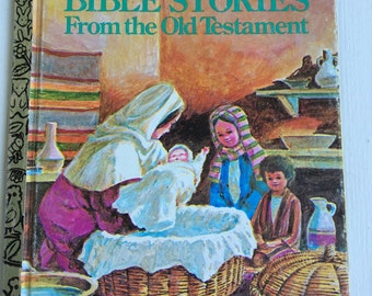 vintage Little Golden Book, Bibles Stories for the Old Testament by Sing Lee, 1980 third printing, 409-1 hardcover, children's religious