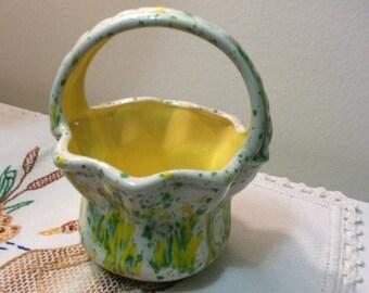 Springtime Ceramic Basket