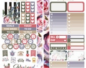 Dusty Floral Personal Size Planner Stickers for Kikki K, Filofax, Kate Spade, Travelers Notebook